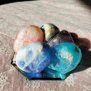 Crystal rock gem shaped soap